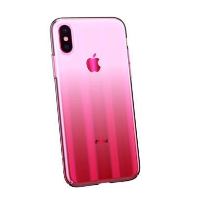 c26405200e7a36 Baseus Aurora Case cieniowane etui pokrowiec ombre Apple iPhone XS / X  różowy (WIAPIPH58- ...
