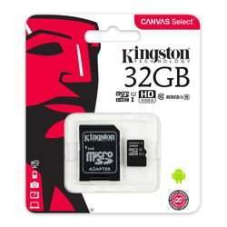 KARTA MICROSD KINGSTON 32GB CANVAS SELECT + ADAPTER SD