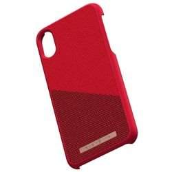 Nordic Elements Saeson Freja - Materiałowe etui iPhone Xs / X (Red)
