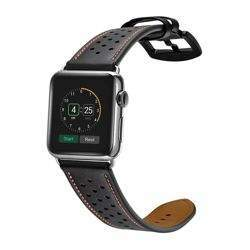 TECH-PROTECT LEATHER APPLE WATCH 1/2/3/4 (42/44MM) BLACK