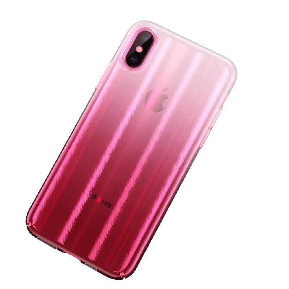 c45bd29abf91a5 Baseus Aurora Case cieniowane etui pokrowiec ombre Apple iPhone XS / X  różowy (WIAPIPH58-JG04) Różowy | Atrakcyjna cena | Sklep MobileCity