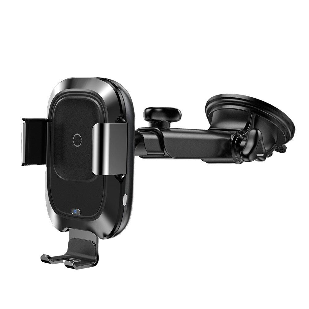 Baseus Smart Vehicle Bracket Wireless Charger elektrycznie zamykany uchwyt samochodowy na deskę rozdzielczą bezprzewodowa ładowarka Qi z czujnikiem