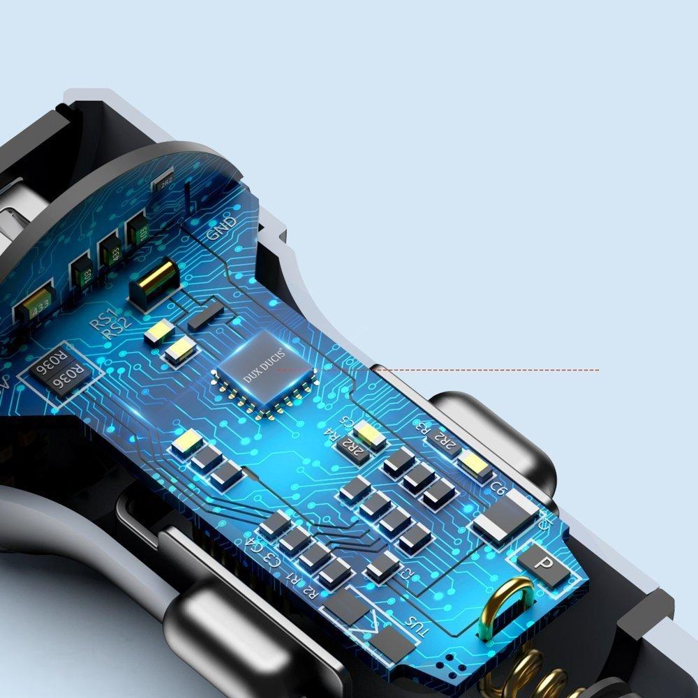 Dux Ducis ładowarka samochodowa 2x USB Quic Charge 3.0 QC3.0 36W 2,4A srebrny (B40)